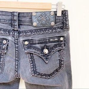 Miss me black cuffed capri jeans 27